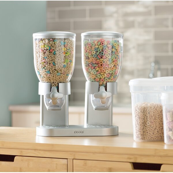 Double 2 Container Cereal Dispenser by Zevro