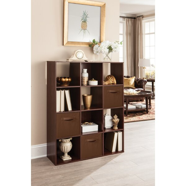 Cubeicals 12 Cube Bookcase With 3 Fabric Bins By ClosetMaid