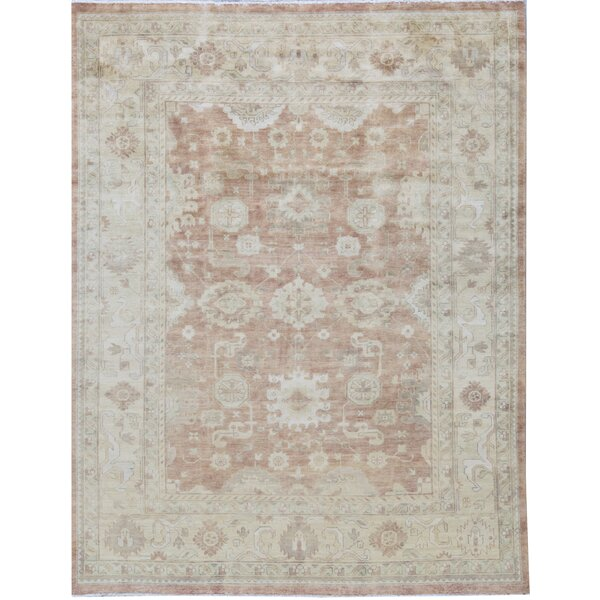 Oriental Hand-Knotted Wool Rust/Gold Area Rug