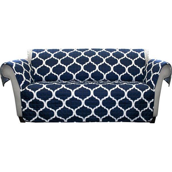 Bourget Box Cushion Sofa Slipcover by Three Posts