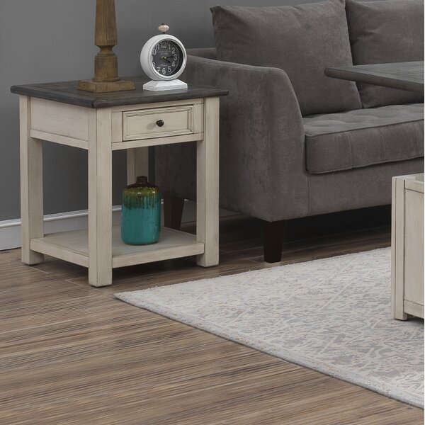 Bernard End Table with Storage by Ophelia & Co.