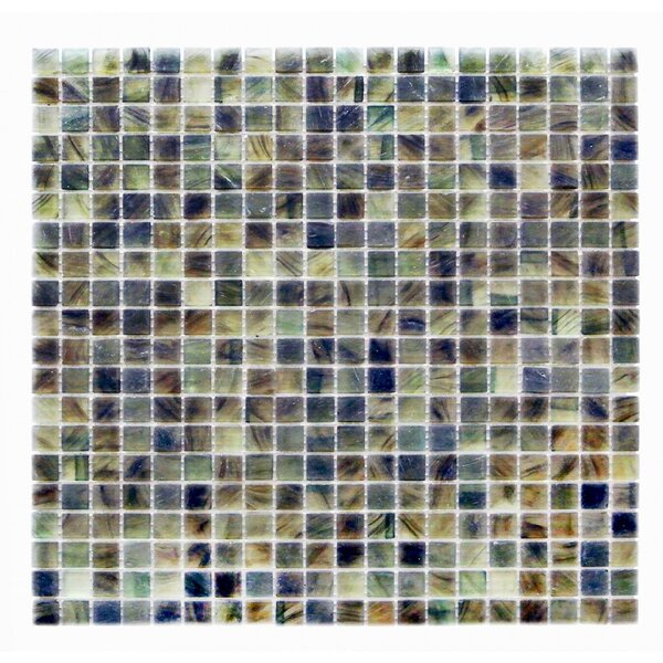 Amber 0.63 x 0.63 Glass Mosaic Tile in Glazed Dark gray by Abolos