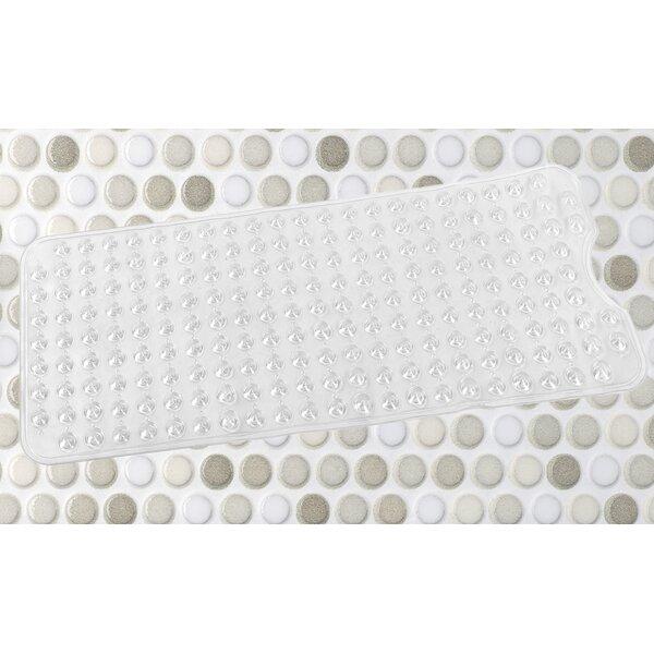Vinyl Shower Mat in Clear by Symple Stuff