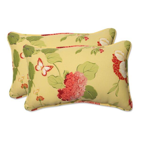 Risa Corded Indoor/Outdoor Lumbar Pillow (Set of 2) by Pillow Perfect