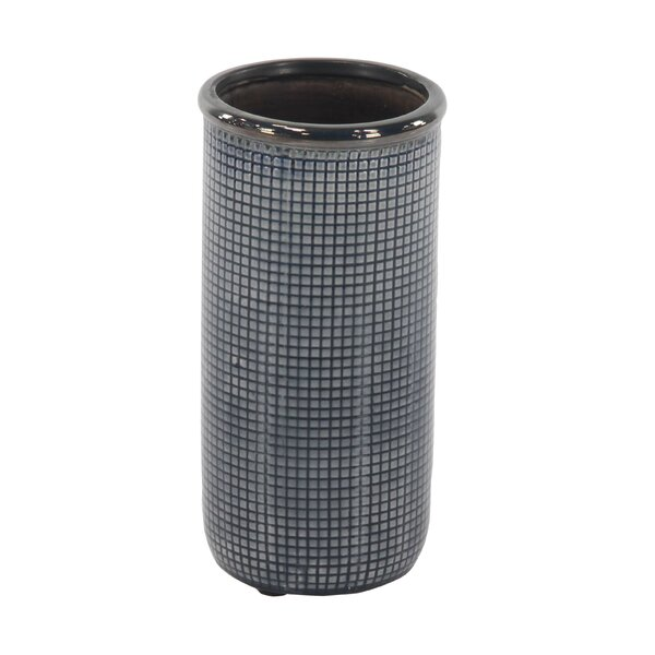 Aquino Contemporary Cylindrical Mesh Design Table Vase by Ebern Designs
