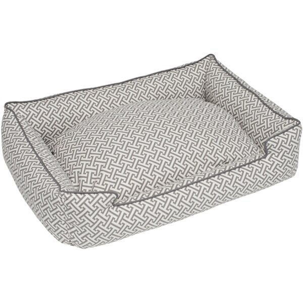Hera Everyday Cotton Lounge Bolster Dog Bed by Jax & Bones