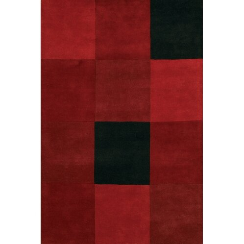 Laurent Red/Black Area Rug by 17 Stories