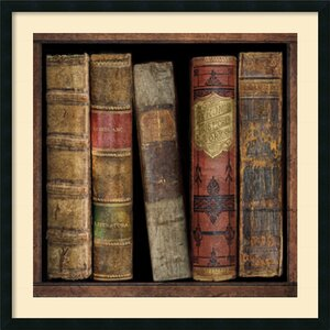 'In The Library I' by Russell Brennan Framed Graphic Art by Amanti Art