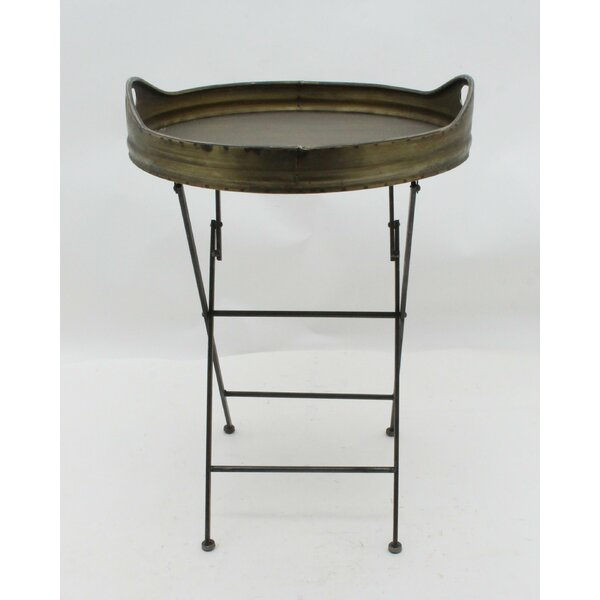 Killian Metal Round Tray Table by 17 Stories