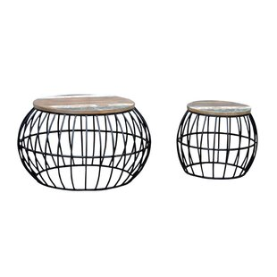 Iron Barrel Cage 2 Piece Coffee Table Set by NACH