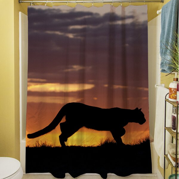 Cougar Silhouette Shower Curtain by Manual Woodworkers & Weavers