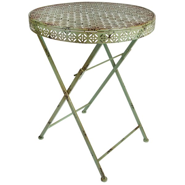 Bridgwater Folding Metal Bistro Table by Ophelia & Co.