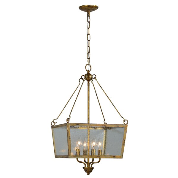 Lavalle 4 - Light Lantern Rectangle Chandelier By Charlton Home