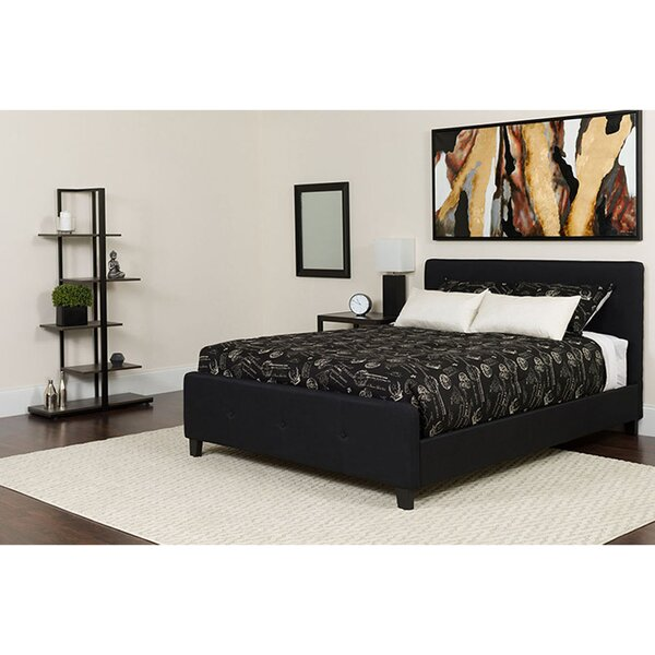 Fredericksen Tufted Queen Upholstered Platform Bed with Mattress by Ebern Designs