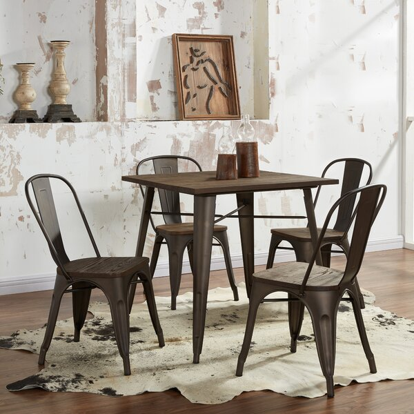 5 Piece Industrial Dining Set by !nspire