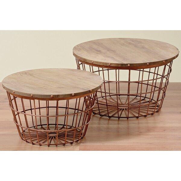 Charming WholeHouseWorlds Urban 2 Piece Wire Basket End Table Set | Wayfair