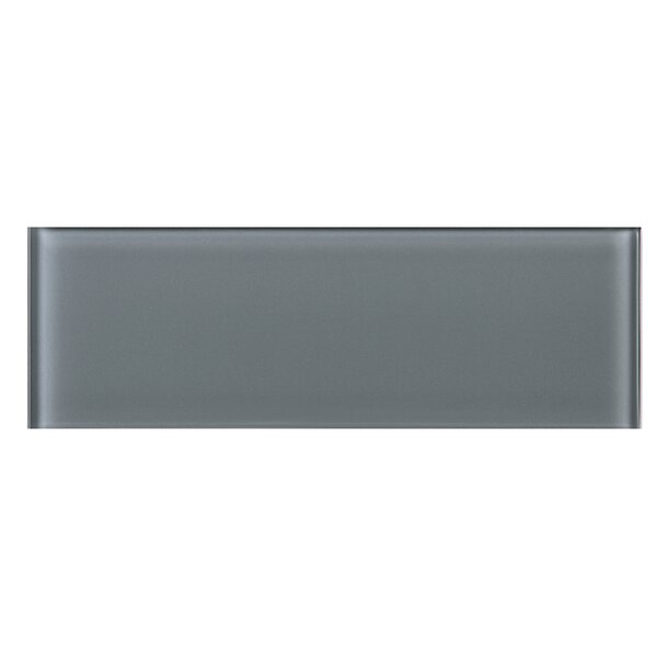 4 x 12 Glass Subway Tile in Gray by Multile