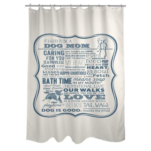One Bella Casa Doggy Decor Dog Mom Shower Curtain U0026 Reviews | Wayfair