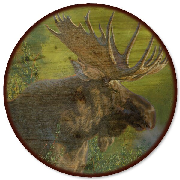 Crisp Fall Morning Moose Lazy Susan by WGI-GALLERY