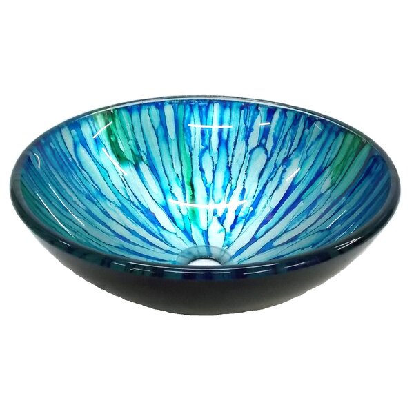 Magnolia Glass Circular Vessel Bathroom Sink by Eden Bath