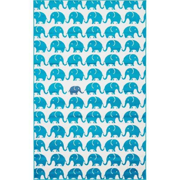 Nicholas Turquoise Area Rug by Viv + Rae
