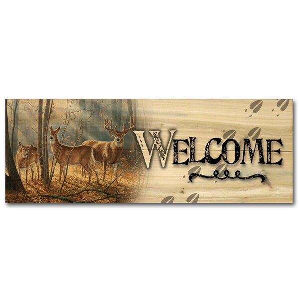Welcome Woodland Splendor by Rosemary Millette Graphic Art Plaque by WGI-GALLERY