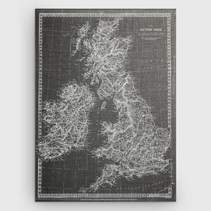 'Antique Map of Ireland' Graphic Art Print on Wrapped Canvas in Gray by Wexford Home