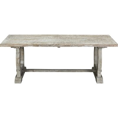 Domenic Mountain Dining Table Mistana Finish: White