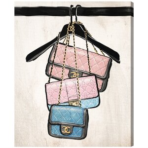 'Closet Purses' Painting Print on Wrapped Canvas by Oliver Gal