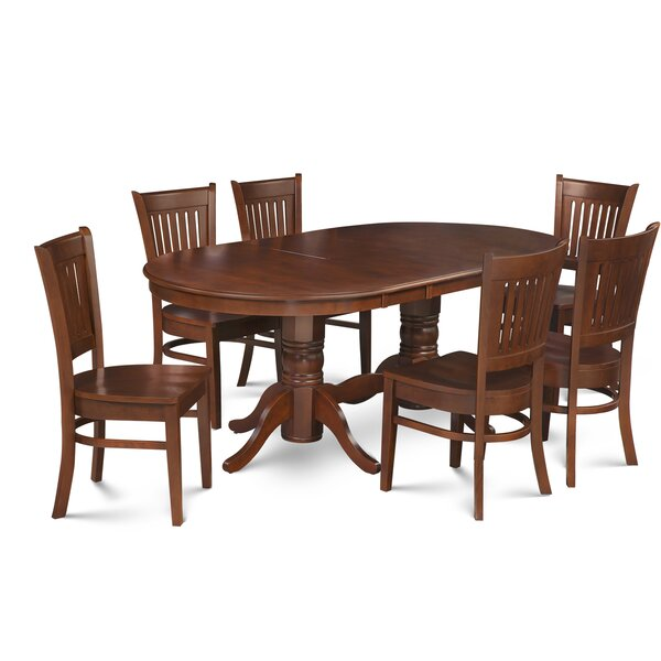 Schacht Traditional 7 Piece Extendable Solid Wood Dining Set by Winston Porter Winston Porter
