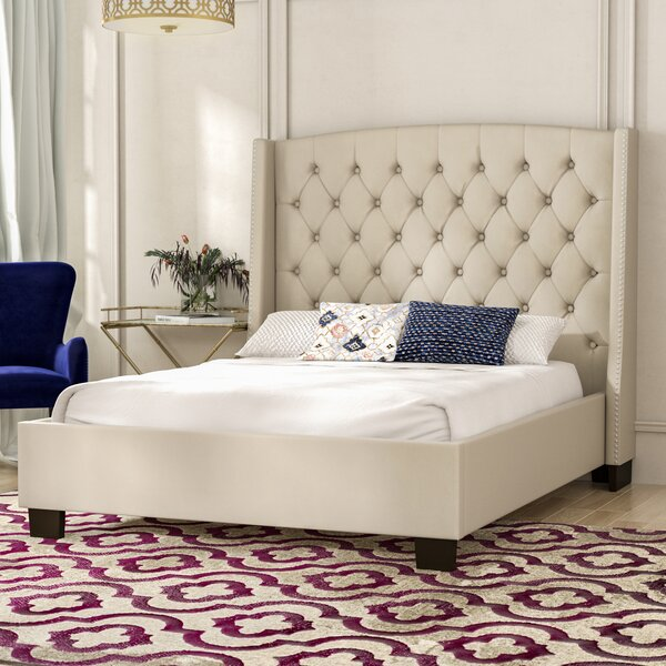 Henriksen Tufted Upholstered Standard Bed by Charlton Home