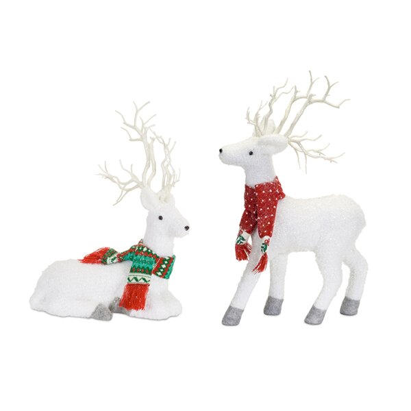 2 Piece Deer 21H Plastic Set by The Holiday Aisle