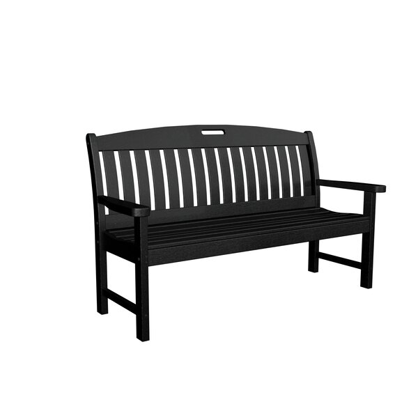 Nautical Plastic Garden Bench by POLYWOOD®