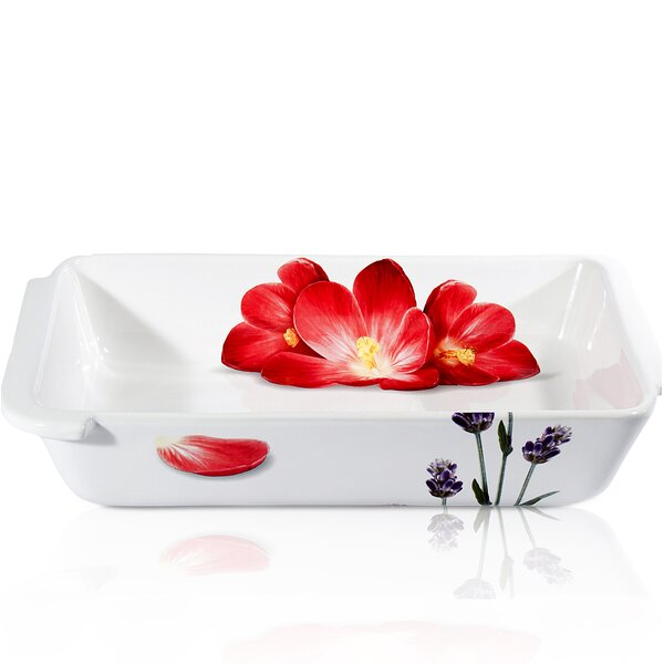 Vivere Poppy Rectangular Baking Dish by Intrada Italy