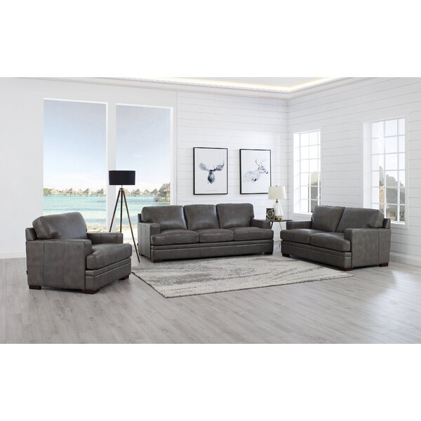 Werner 3 Piece Leather Living Room Set by 17 Stories