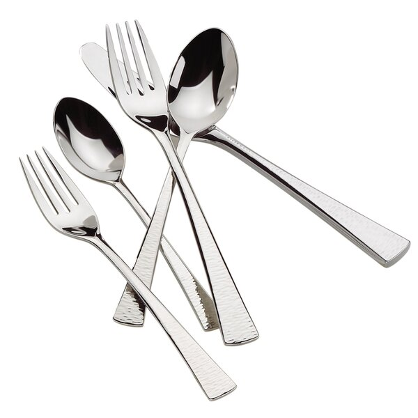 Biscayne 65-Piece 18/10 Stainless Steel Flatware Set, Service for 12 by Gorham