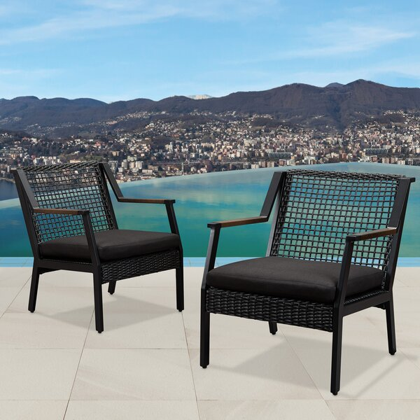 Calvin Patio Chair With Cushion (Set Of 2) By Real Flame by Real Flame Wonderful