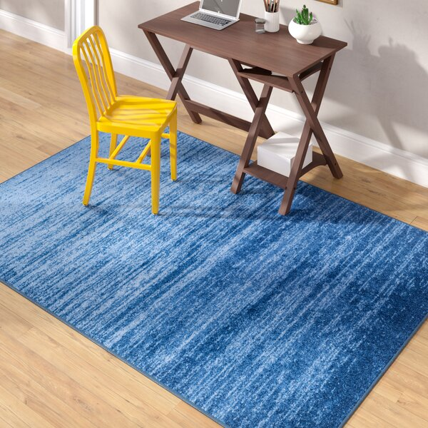 Tyra Blue Area Rug by Mercury Row