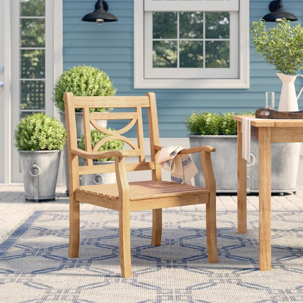 Brunswick Teak Patio Dining Chair by Birch Lane™ Heritage