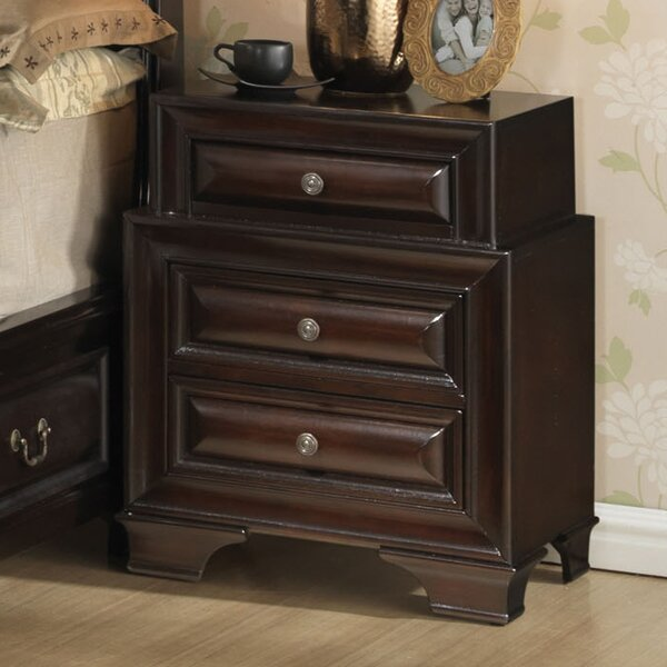 Edwardsville 3 Drawer Nightstand by Darby Home Co