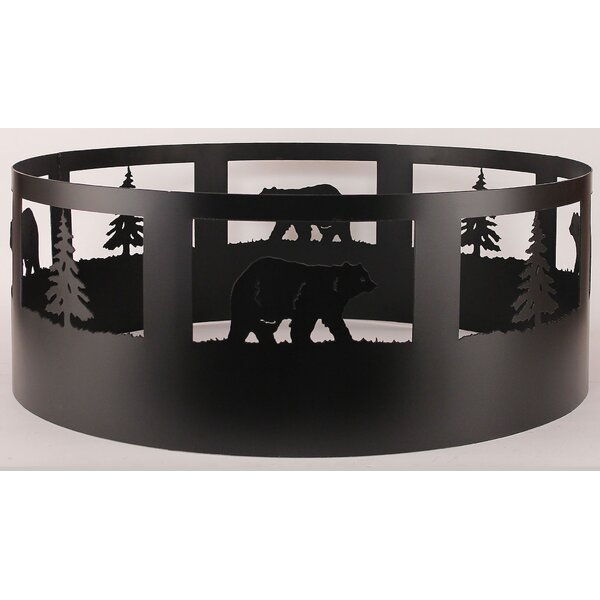 Glynis Bear Steel Charcoal Fire Ring by Loon Peak