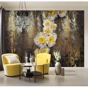 Serafina 254m L X 368cm W Floral And Botanical Tile Panel Wall Mural