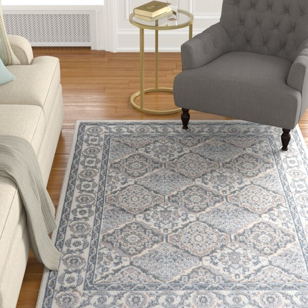 Hobbs Cream Area Rug by Charlton Home