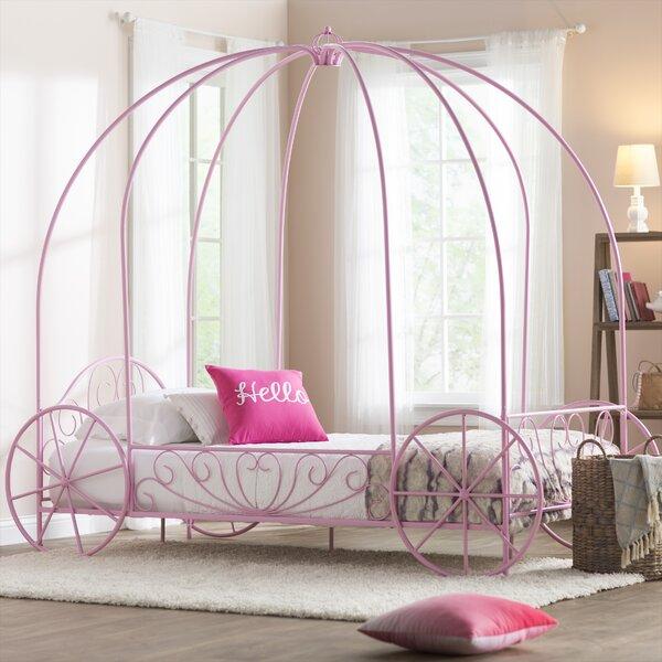 Brandy Twin Canopy Bed by Zoomie Kids