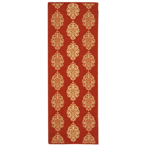 Short Red/Natural Outdoor Rug by Winston Porter