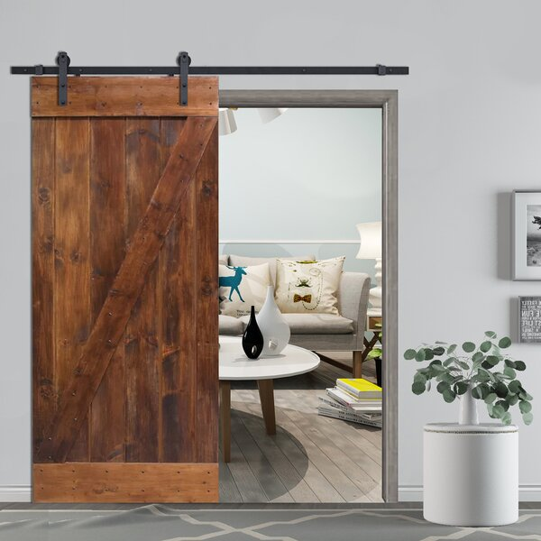 Z-Bar Solid Wood Room Divider Pine Slab Interior B