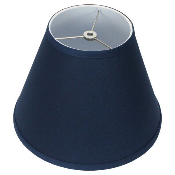 9 H x 12 W Linen Empire Lamp shade ( Spider ) in Blue