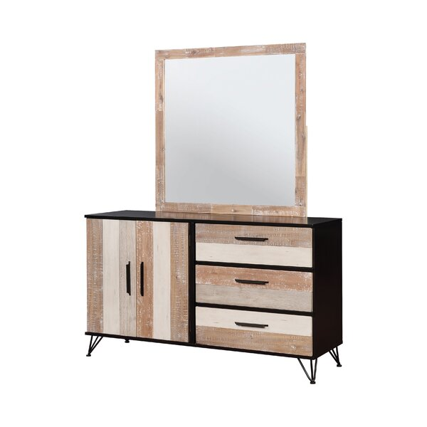 Livingston 6 Drawer Double Dresser with Mirror by Enitial Lab