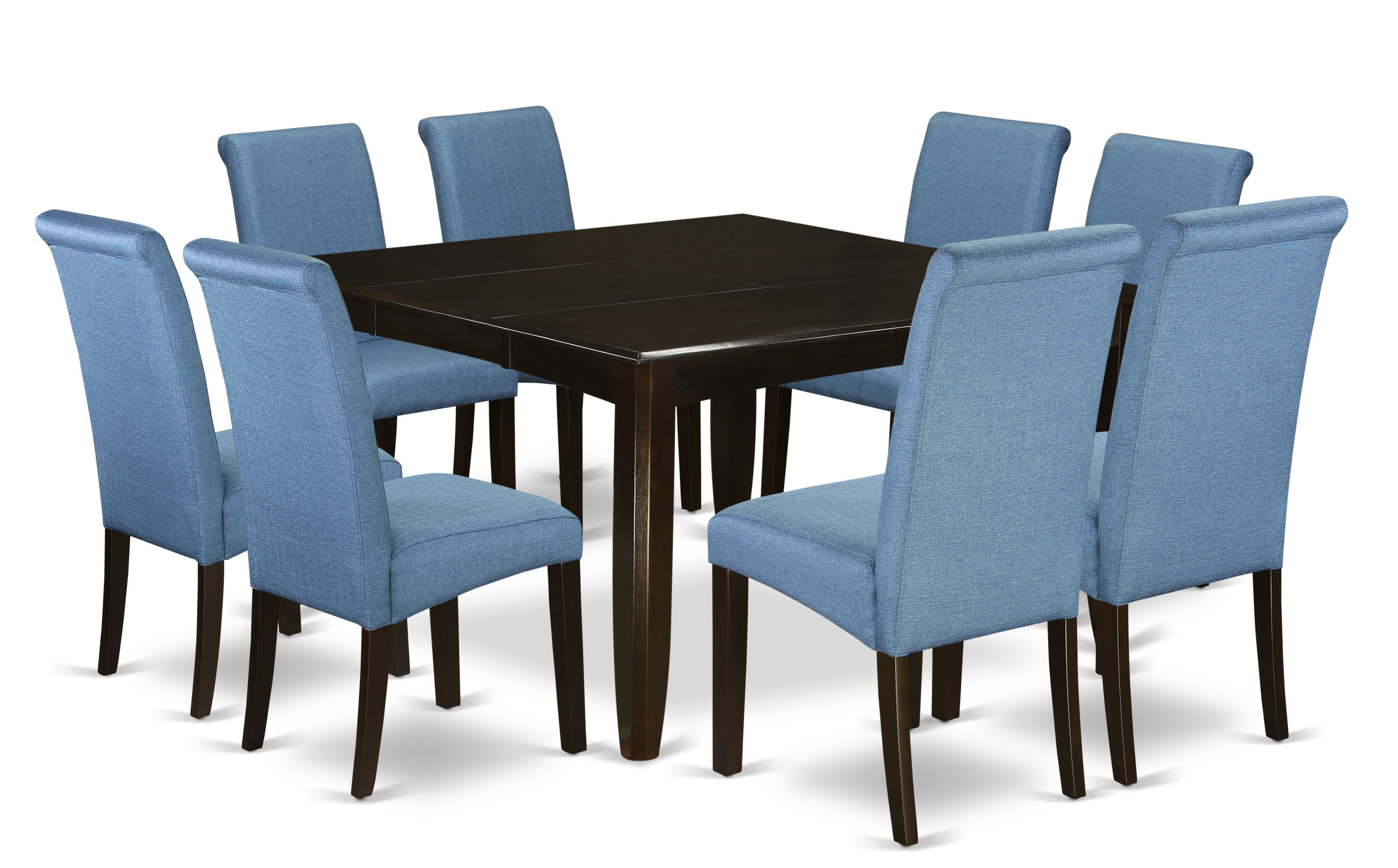 Joselyn Square Kitchen Table 9 Piece Extendable Solid Wood Dining Set