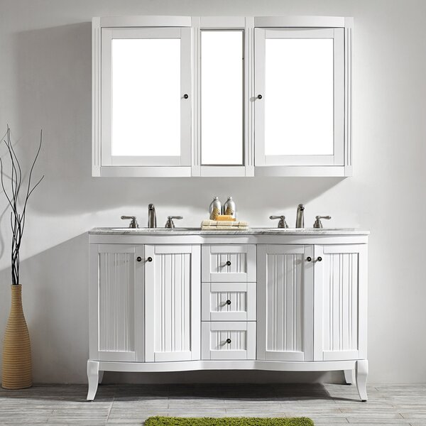 Saint 60 Double Vanity Set with Mirror by Beachcrest Home